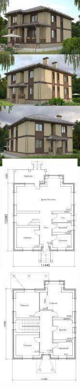 Проект дома в классическом стиле в два этажа